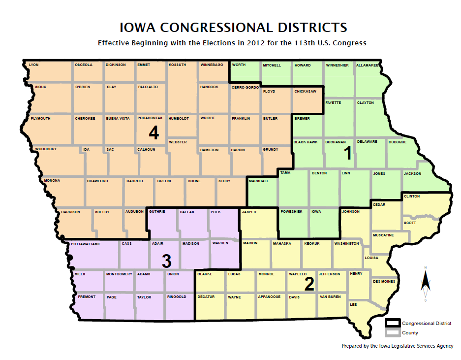 Iowa Congressional Districts Map