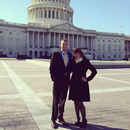 ECGPS President Michael Appel and Vice President Emma Hashman